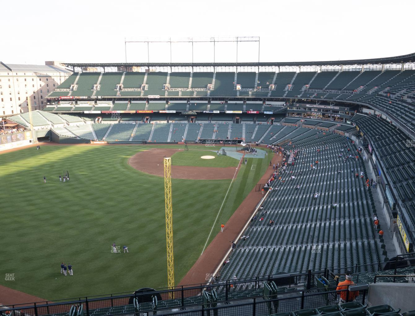 Baltimore Orioles at Oriole Park at Camden Yards Section 376 View