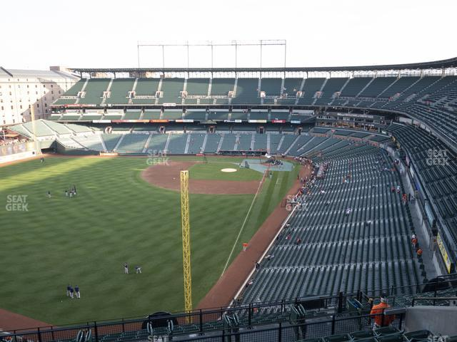 Oriole Park at Camden Yards Section 376 view