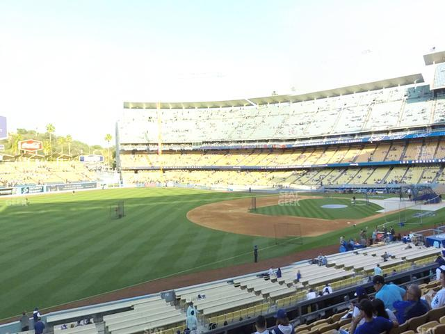 Dodger Stadium Loge Box 153 view