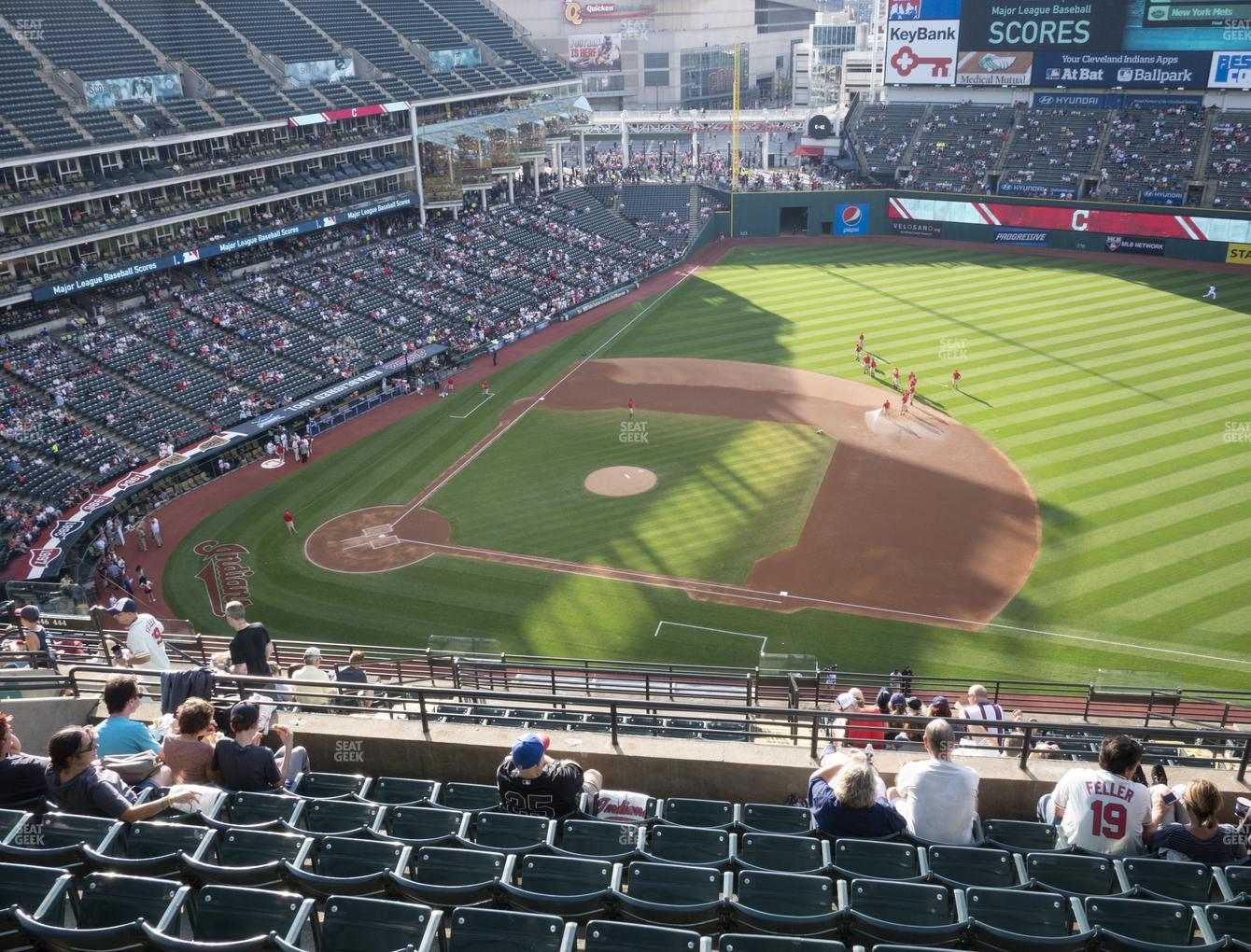 Cleveland Indians at Progressive Field Section 541 View