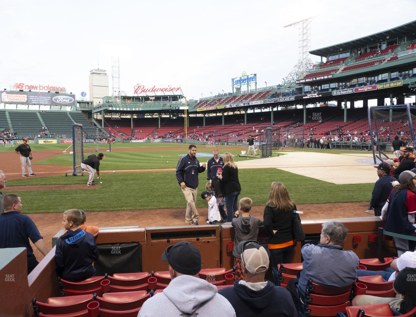 Boston Red Sox at Fenway Park Field Box 61 View