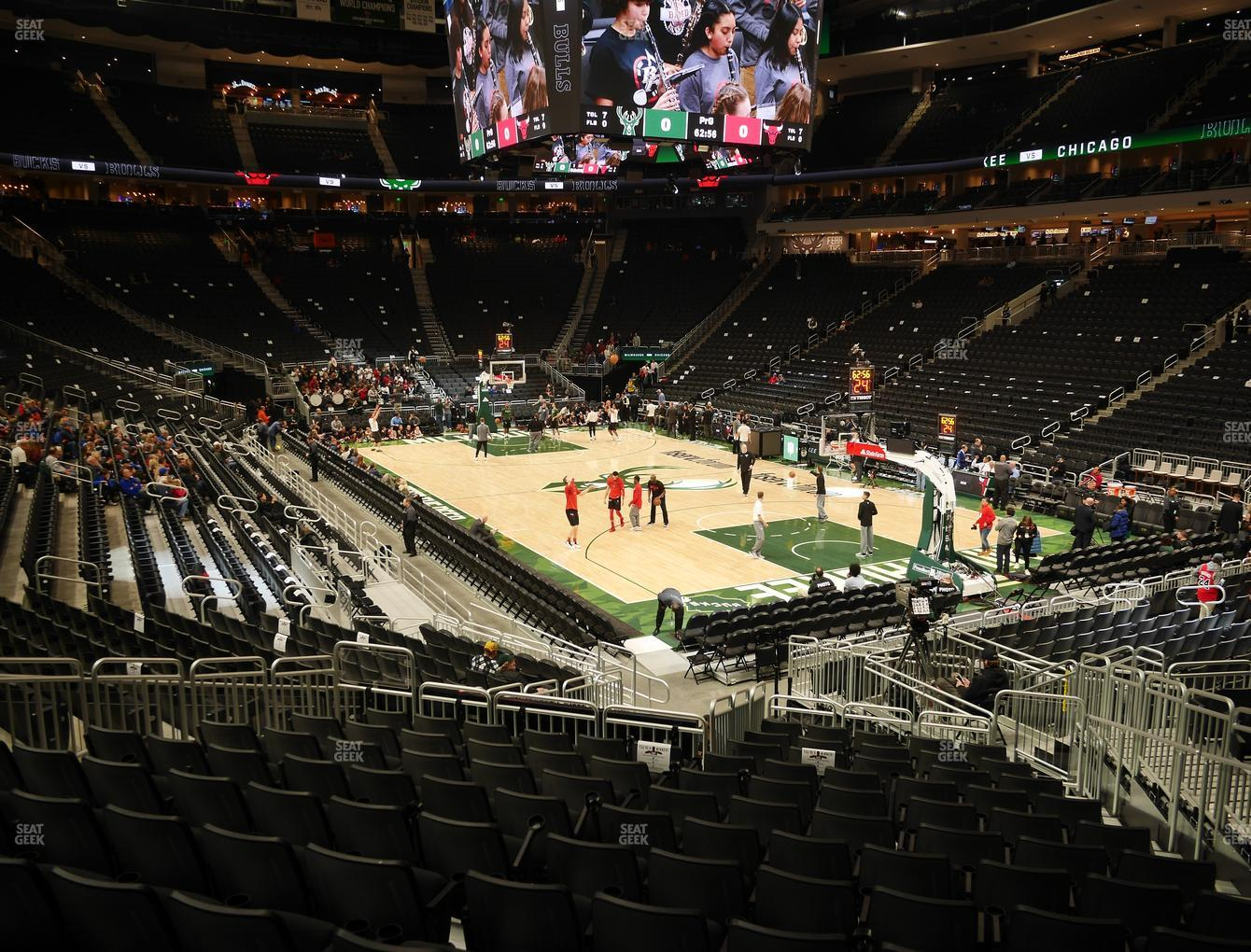 Milwaukee Bucks at Fiserv Forum Section 103 View