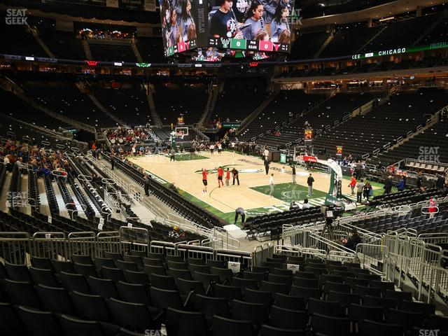 Fiserv Forum Section 103 view