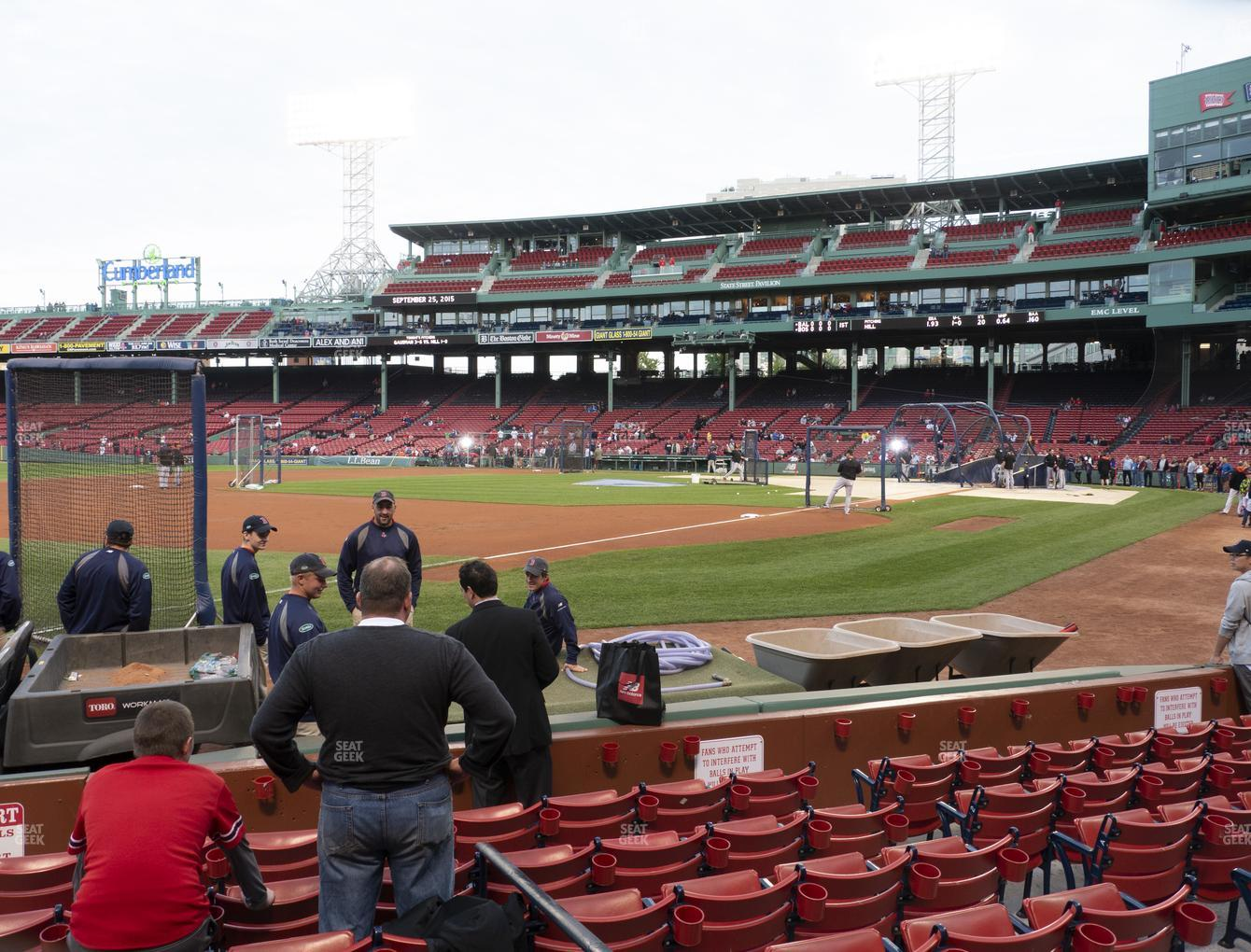 Boston Red Sox at Fenway Park Field Box 75 View