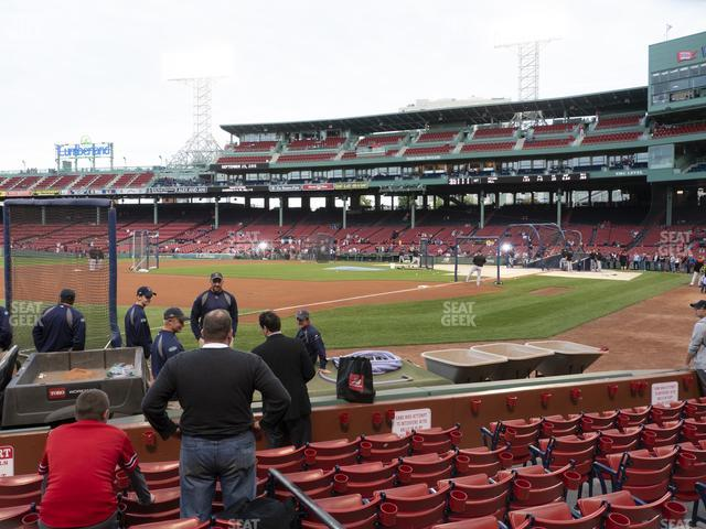 Fenway Park Field Box 75 view