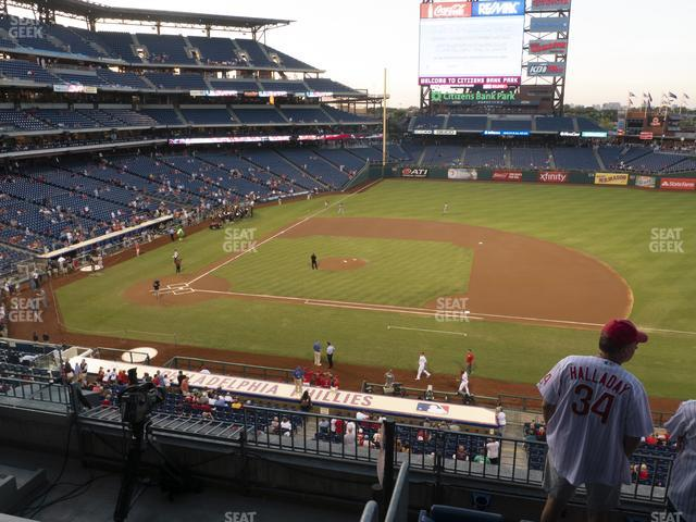 Citizens Bank Park Section 215 view