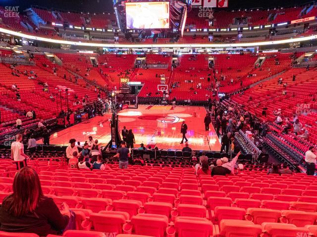 American Airlines Arena Section 112 view