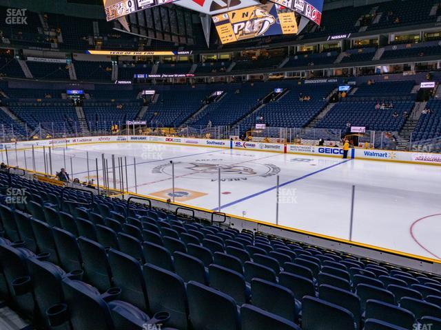 Bridgestone Arena Section 107 view