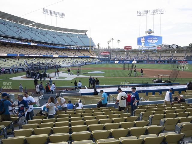 Dodger Stadium Field Box 16 view