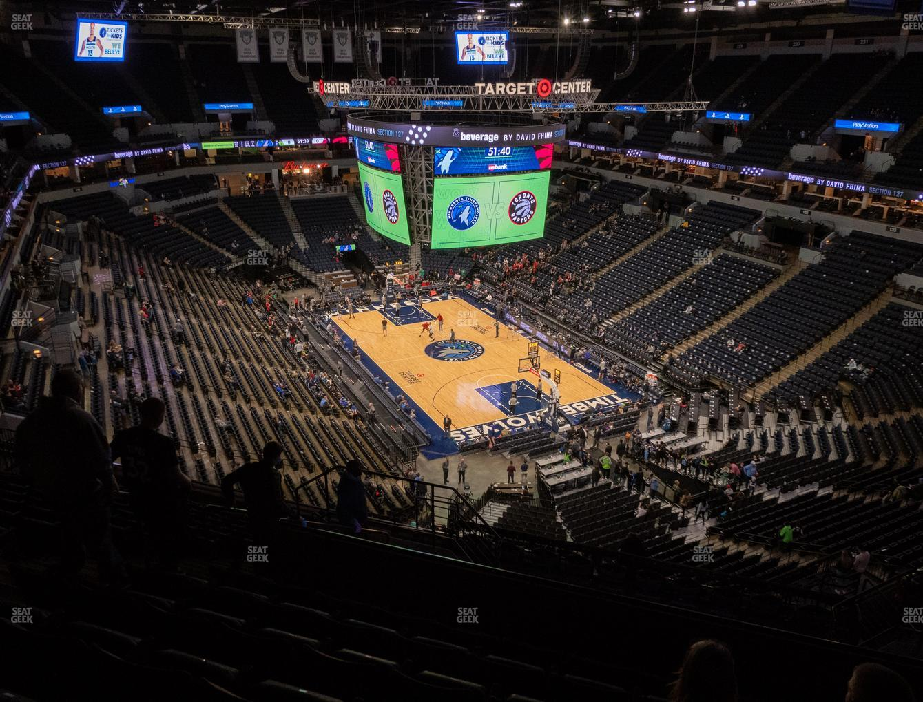 Minnesota Lynx at Target Center Section 204 View