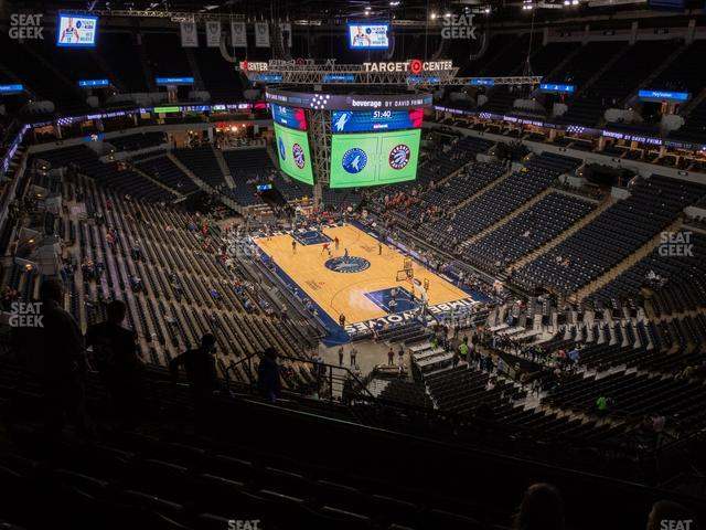 Target Center Section 204 view