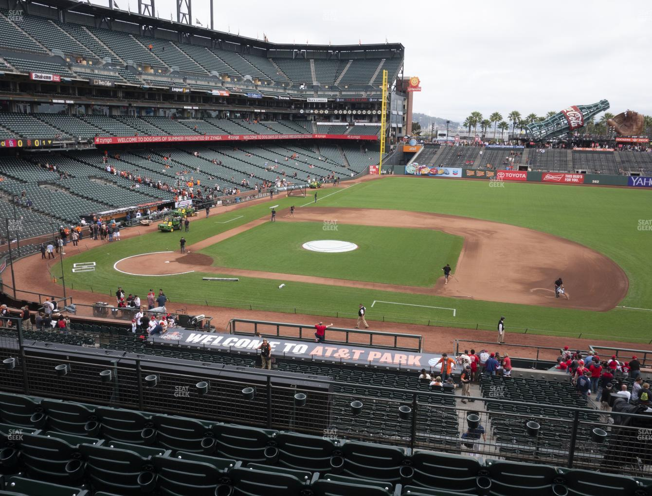 San Francisco Giants at Oracle Park Section 208 View