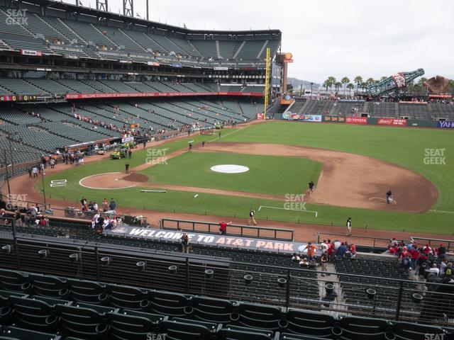 Oracle Park Section 208 view