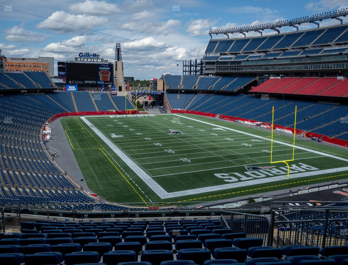 New England Patriots at Gillette Stadium Section 223 View