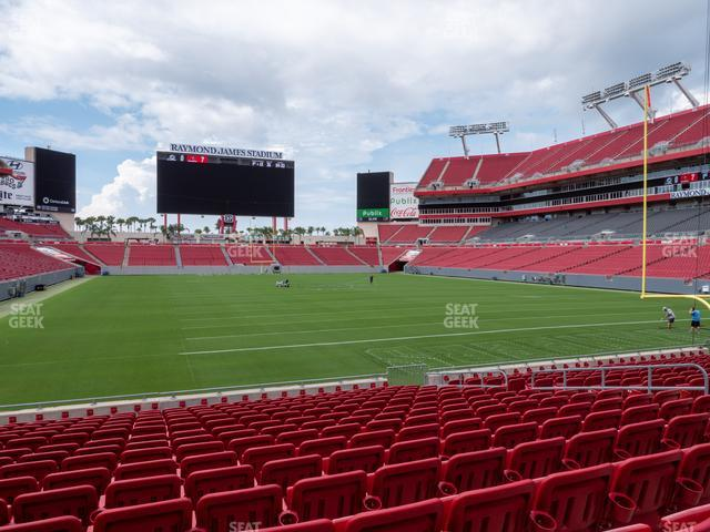 Raymond James Stadium Section 146 view