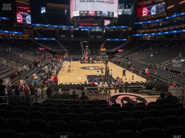 State Farm Arena Section 114 view