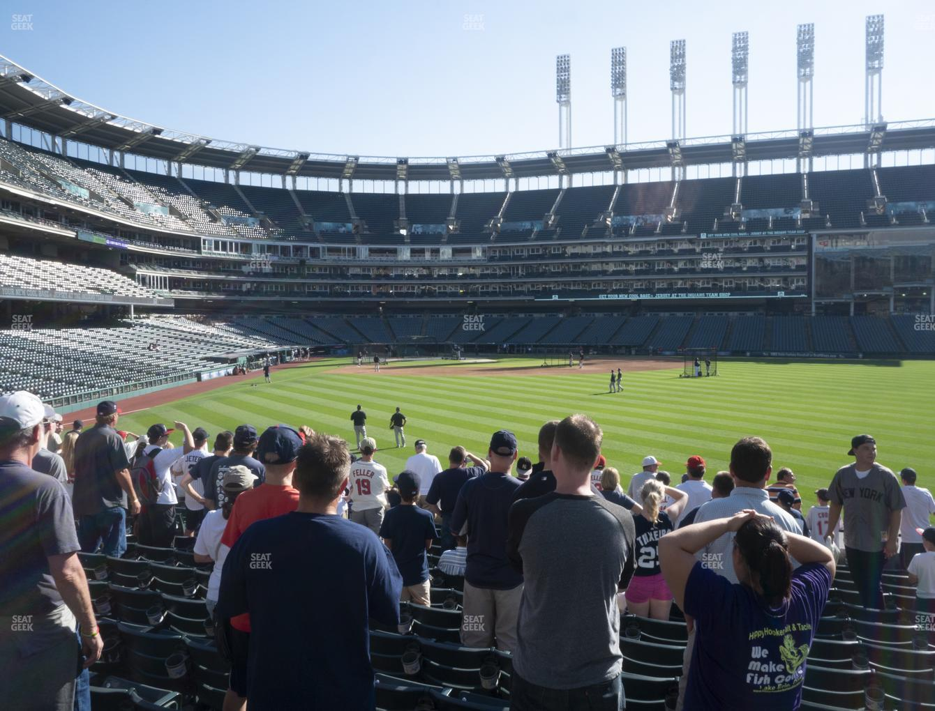 Cleveland Indians at Progressive Field Section 109 View