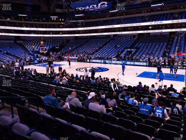 American Airlines Center Section 105 view