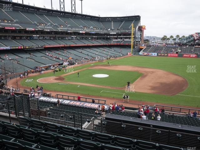 Oracle Park Section 207 view