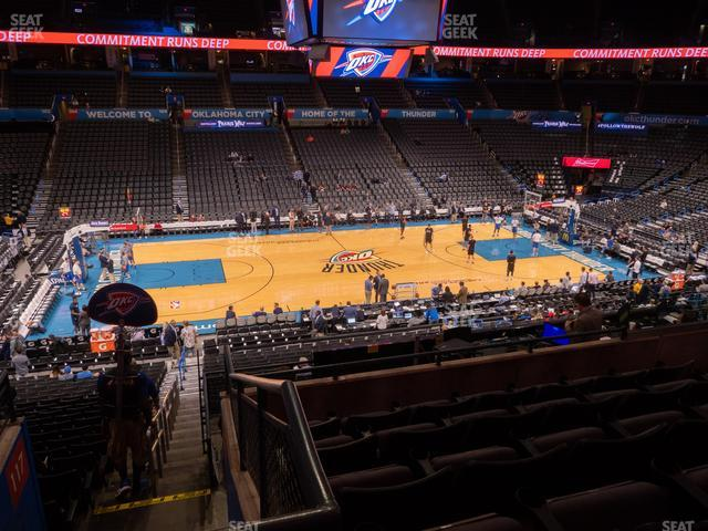 Chesapeake Energy Arena Section 224 view