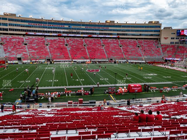Camp Randall Stadium Section F view