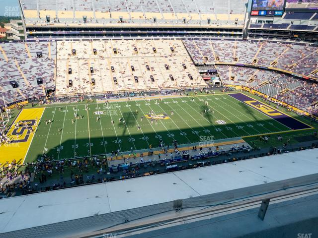 LSU Tiger Stadium Section 518 view