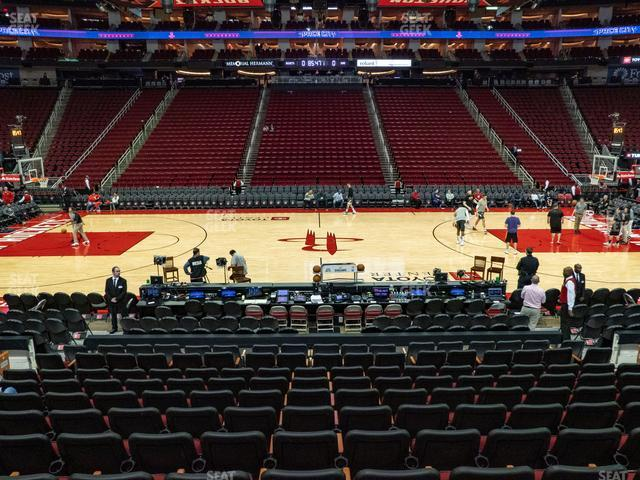 Toyota Center Section 120 view