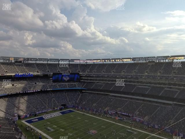 MetLife Stadium Section 308 view