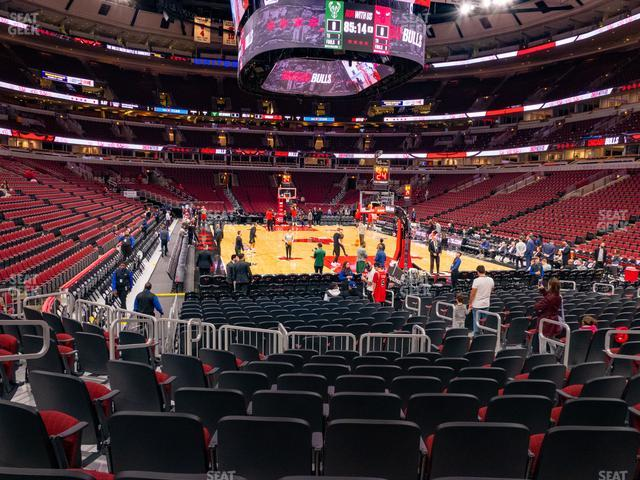 United Center Section 107 view