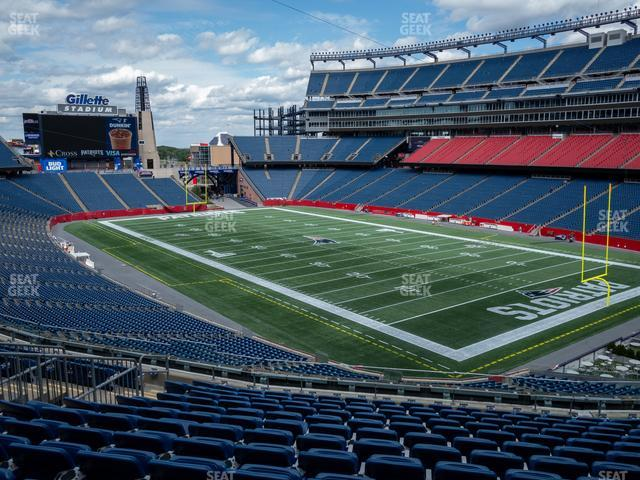 Gillette Stadium Section 225 view