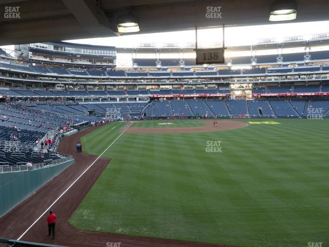 Nationals Park Section 138 view