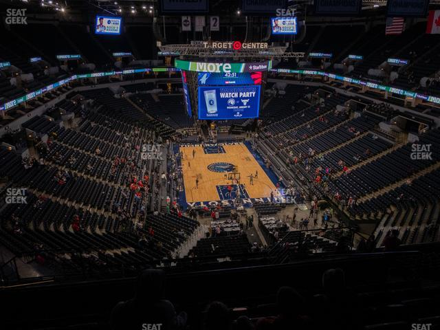 Target Center Section 222 view