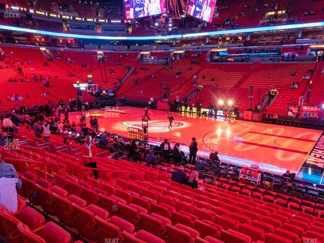 American Airlines Arena Section 105 view