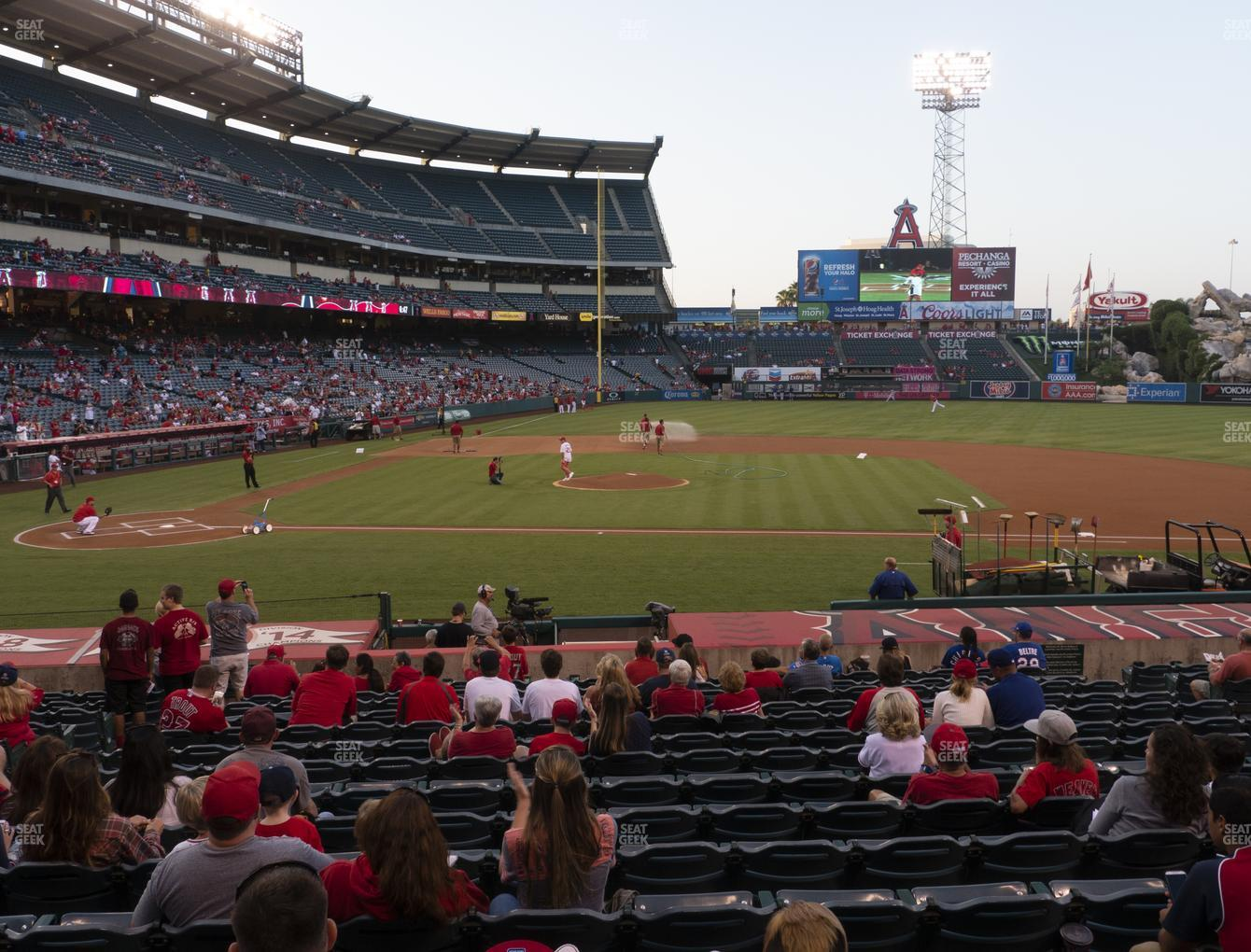 Los Angeles Angels at Angel Stadium of Anaheim Section 123 View