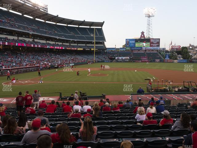 Angel Stadium of Anaheim Section 123 view