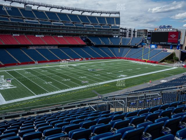 Gillette Stadium Section 214 view