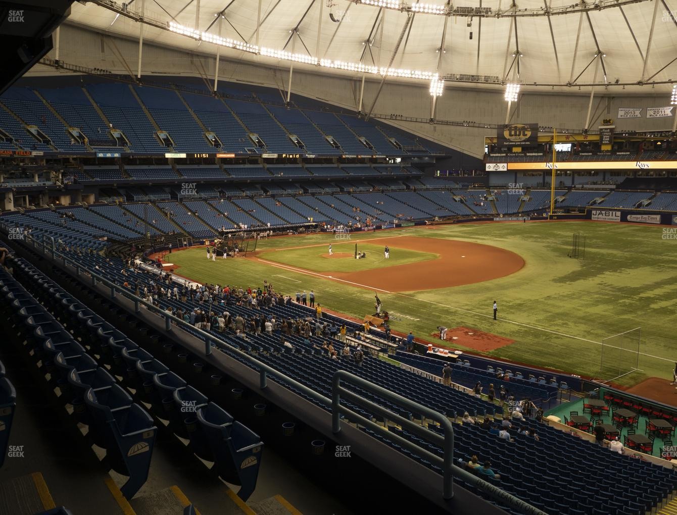 Tampa Bay Rays at Tropicana Field Section 222 View