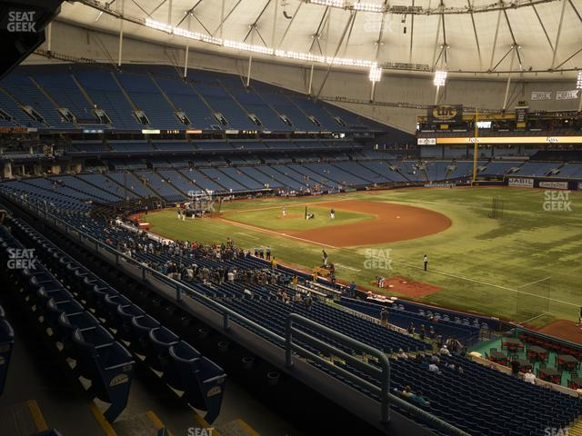 Tropicana Field Section 222 view