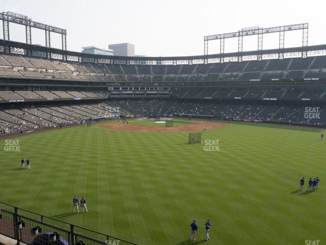 Coors Field Section 202 view