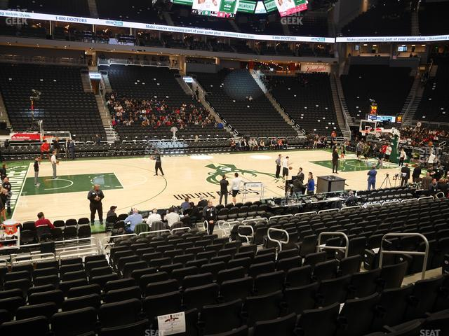 Fiserv Forum Section 118 view