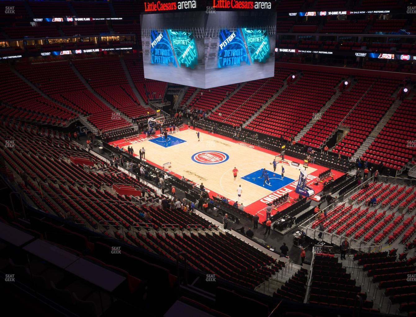 Detroit Pistons at Little Caesars Arena Mezzanine 23 View