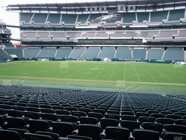 Lincoln Financial Field Section 120 view
