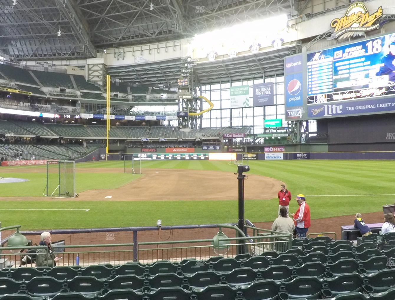 Milwaukee Brewers at Miller Park Section 112 View