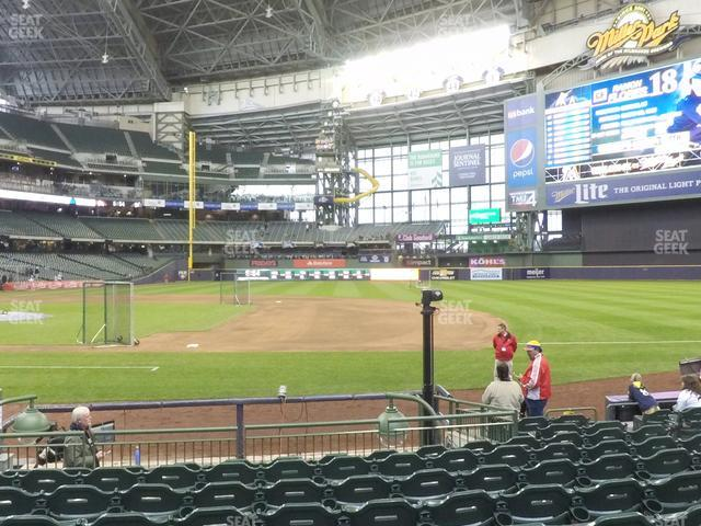 Miller Park Section 112 view