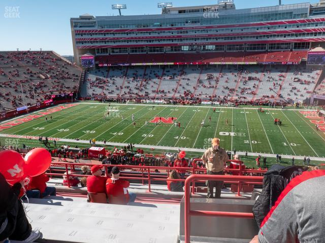Memorial Stadium Nebraska Section 104 view