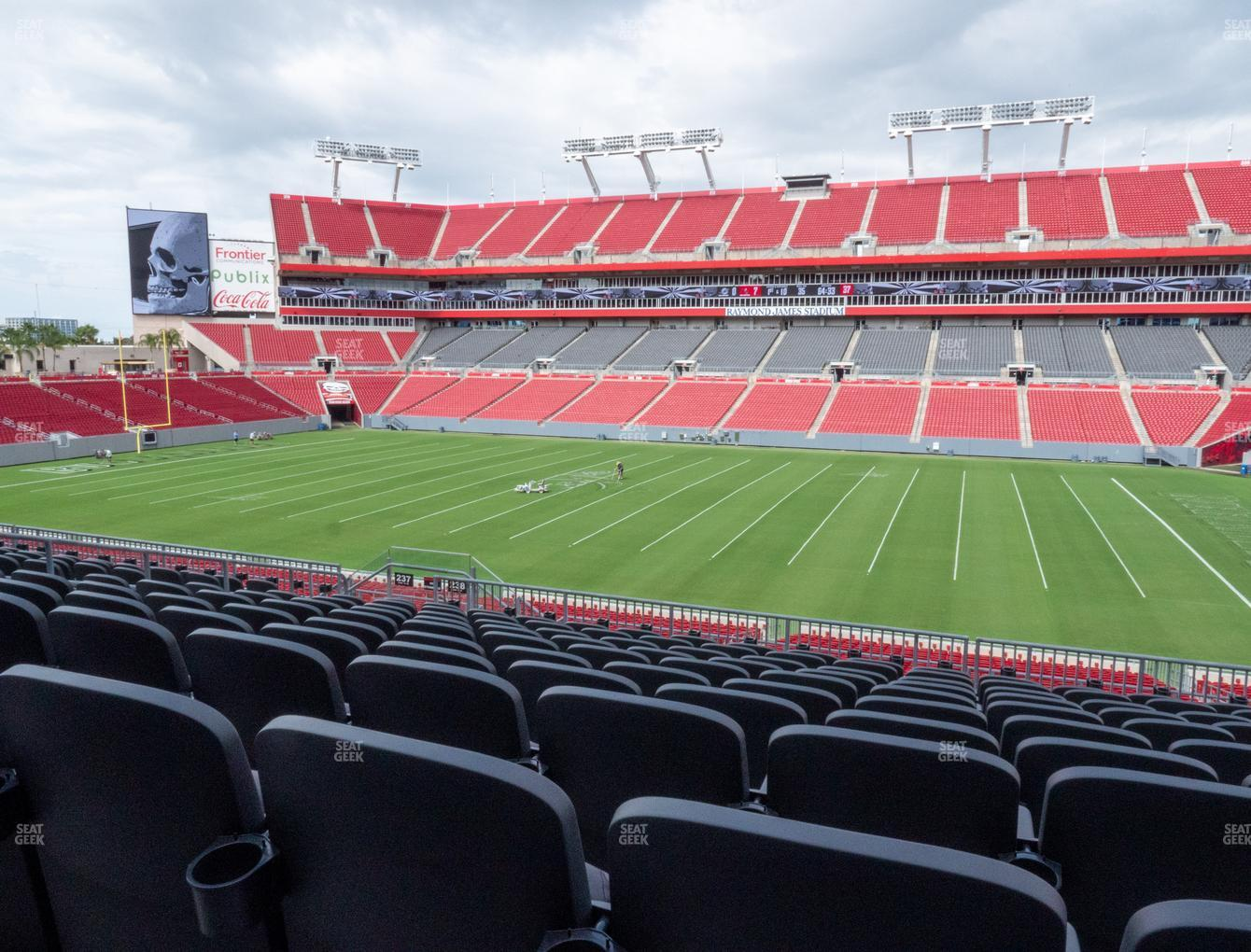 Tampa Bay Buccaneers at Raymond James Stadium Section 238 View