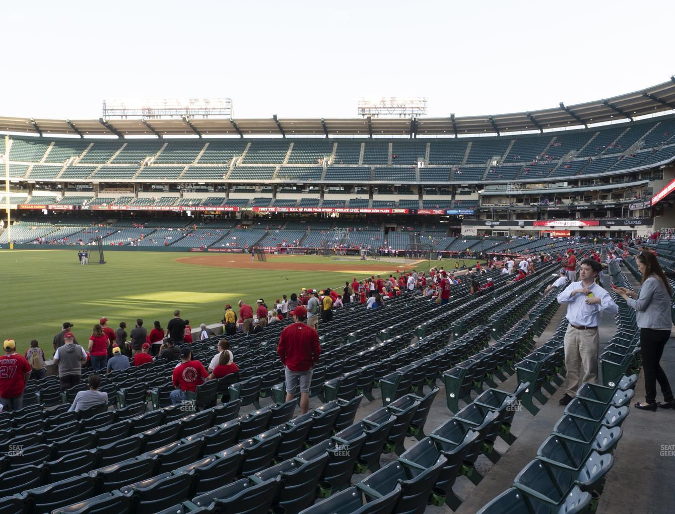 Los Angeles Angels at Angel Stadium of Anaheim Section 104 View