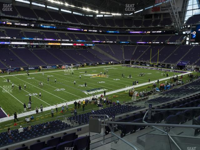 U.S. Bank Stadium Section 135 view