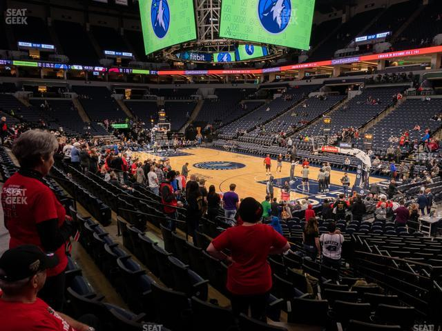 Target Center Section 126 view