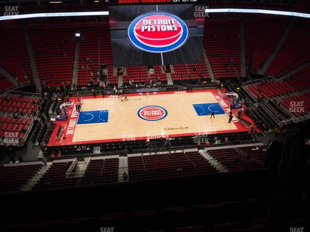 Little Caesars Arena Section 212 view
